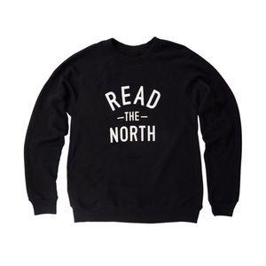 Indigo Read The North Black Sweatshirt Size L
